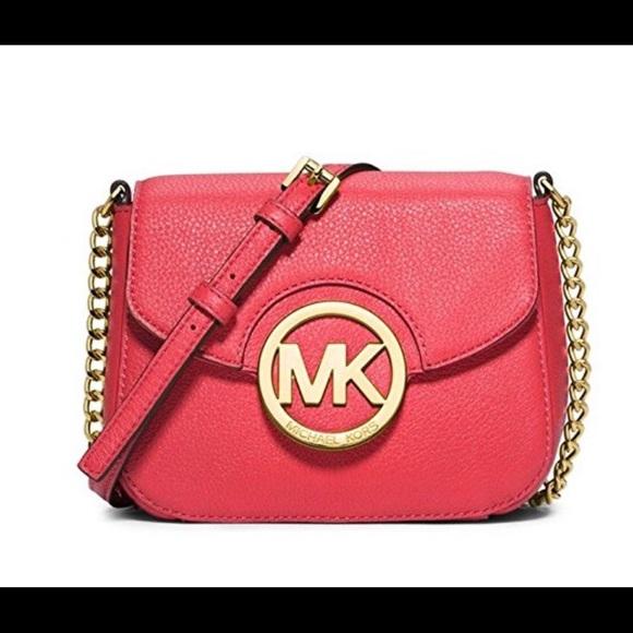 afe227ea2867 Michael Kors Bags   Fulton Small Crossbody Leather Red   Poshmark